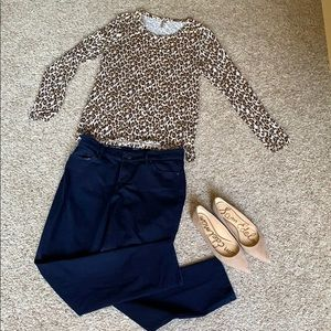 Banana Republic leopard long sleeve shirt
